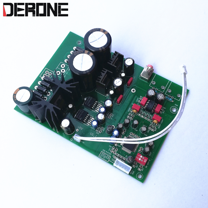 AK4495SEQ DAC Board I2S 32bit 384khz Audio Professional output to headphone amplifier free shipping