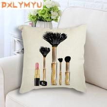 Cushion Cover Paris Perfume Fashion Makeup High heels Printed Pillow Case Nordic Pillowcase Decorative for Sofa