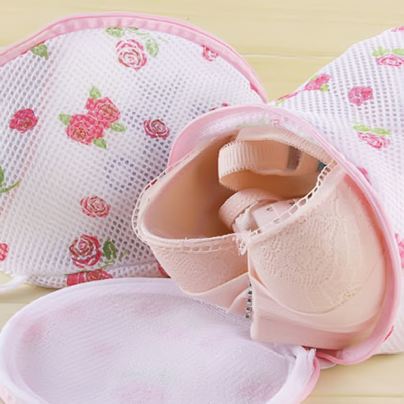 1 PC Floral Color Clothes Washing Machine Laundry Bags Washing Hosiery Saver Protect Women Bra Mesh Net Wash Bag Bathroom Tools(China)
