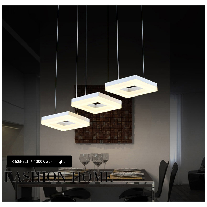 35W White Acrylic drop Lamp With 3 Lights Modern For Dining Room hanging lamp, Lampara Lustres Newest Design pendant lamp