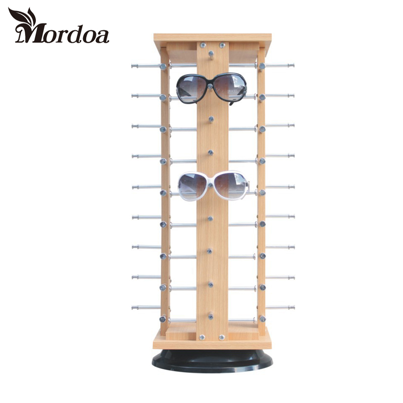 2017 Wholesale High-grade Wood Sunglass Racks Glasses Display Stand Wood Shelf Stand For 36 pairs Sunglasses Jewelry Display mordoa wholesale rotating white plastic sunglass display stand holder glasses rack for 28 pairs