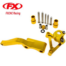 FX CNC Aluminum Adjustable Steering Stabilize Motorcycle Damper Bracket Mounting Kits Fit for DUCATI 696 796 795 All Year