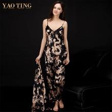 Крученый шелк Для женщин пикантные пижамы Мода Твердые пара сон набор v-образным вырезом рукава красивые шелковые Lounge женский сна TZ013