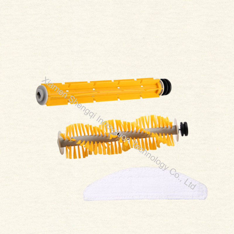 Original A325 Robot Vacuum Cleaner parts, Mop*1, Rubber brush*1 and Hair brush *1