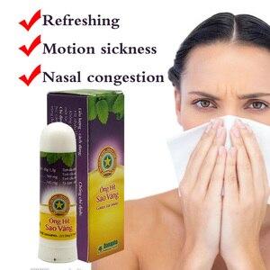 Image 3 - Tayland bitkisel nazal solunum aleti sopa nane silindir tedavisi astım burun tıkanıklığı baş ağrısı ferahlatıcı Aroma sopa Inhaler