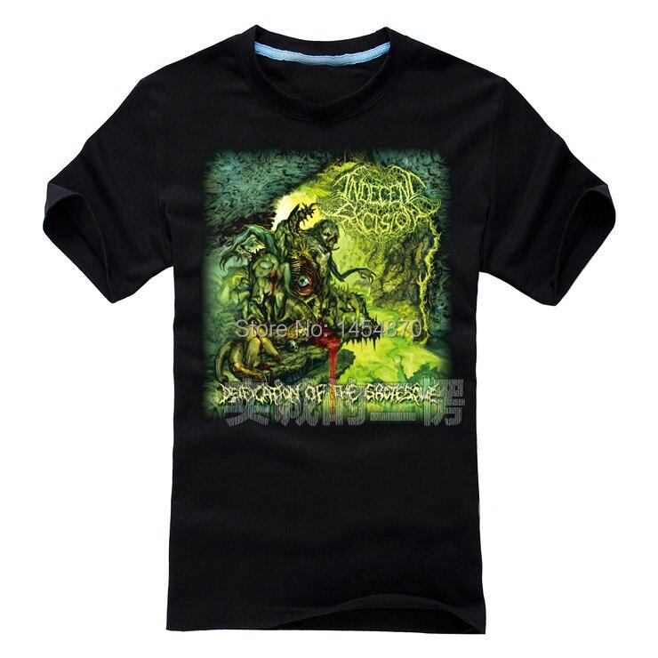 75c124f97a7b 2 designs Indecent Excision Rock Brand shirt 3D skull fitness Hardrock heavy  Dark Metal 100%Cotton skateboard camiseta