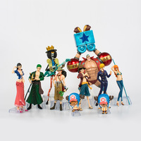 Animated One Piece Luffy Qiao Ba advance the new world straw hat Legion 10 hand decorated doll models collection toys