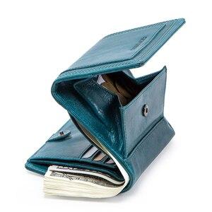Image 3 - Contacts Brand diseñador de Carteras de mujer, monedero de cuero genuino, billetera corta, tarjetero, monedero para niña