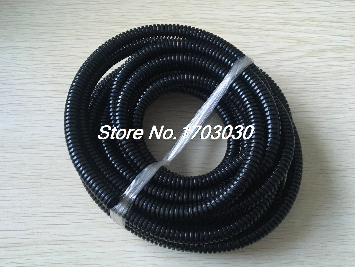 15.8mm OD Black Plastic Flexible Corrugated Bellow Cable Conduit Tube Pipe 2M цены