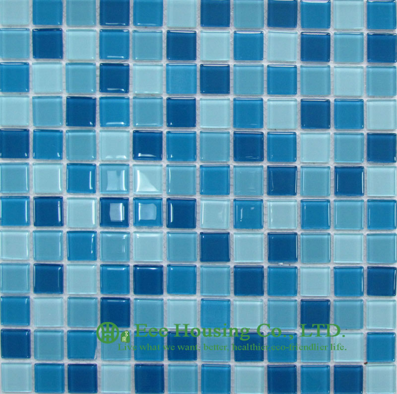 Washable And Durable Crystal  Mosaic Tile Manufacturer In China, For Bathroom / Swimming Pools (Crystal Mosaic Tile-10)