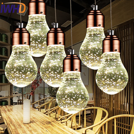 IWHD Crystal Iluminacion Led Hanging Lamp Modern Fashion Bedroom Pendant Lights Simple Kitchen Restaurant Luminaire Suspendu noosion modern led ceiling lamp for bedroom room black and white color with crystal plafon techo iluminacion lustre de plafond