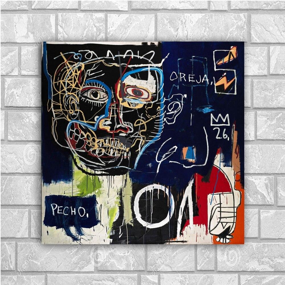 Jean Michel Graffiti Art Canvas Poster Home Decor 12X12 24X24Inch