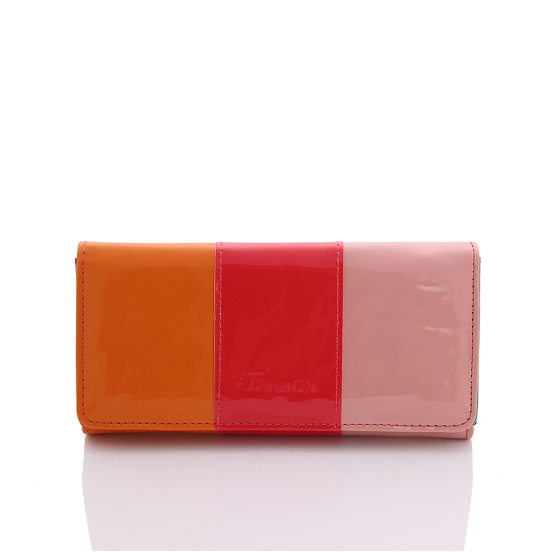 PU Leather Women Long Wallet Candy Colors Wallets Female Hit Color Stitching Clutches Card Holders Mobile Bags Lady Change Purse