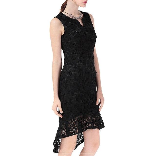 Pettigirl Mermaid Dress Womens 1960 s Vintage Sleeveless Solid Little Black  Lace Fishtail Party Dress 7db961847385