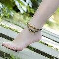 2016 new arrivals mulheres tornozeleira DIY weave 4 cores acessórios de moda jóias pé tornozeleiras ágata madeira presentes do aniversário da menina BT11
