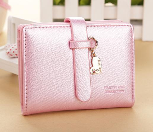 Pink Synthetic PU Leather /& Metal Money Clip