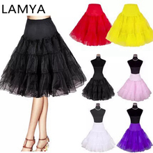 LAMYA Short Organza Halloween Petticoat Crinoline Vintage Wedding Bridal for Dress Underskirt Rockabilly Tutu
