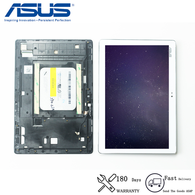 Original For Asus ZenPad 10 Z300 Z300C ZP023 LCD Display Touch Screen Digitizer Panel Sensor Assembly with Frame