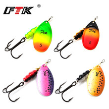 FTK 1PC Spinner Bait SIZE: 1#-5# Similar as Copper Fishing Lure With Mustad Treble Hooks Hard Baits Spoon