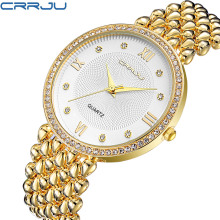CRRJU Girls's Watch Extremely Skinny Stainless Metal Quartz Watch Girl Informal Hours Bracelet Watches Girls Lover's Feminine Clock Reward