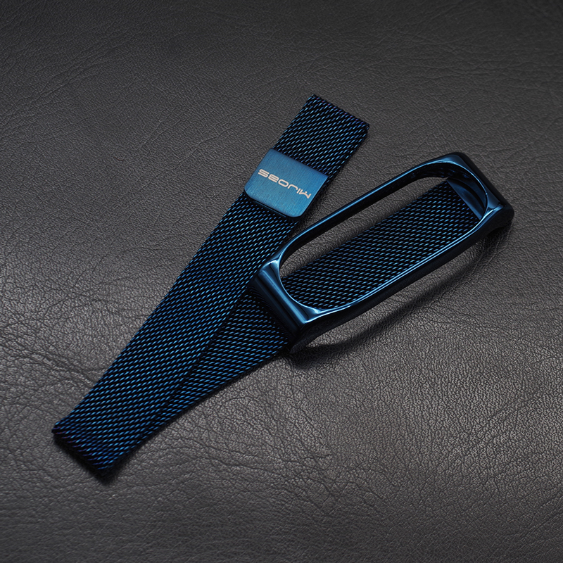 Mi Band 3 Strap For Xiaomi Mi Band 4 Bracelet Milanese Wristband Magnet Stainless Steel Miband Replacement Wrist Compatible in Smart Accessories from Consumer Electronics