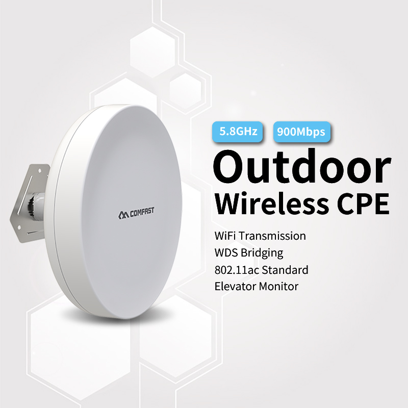 Outdoor Wireless CPE 900Mbps 5.8Ghz Wifi Outdoor Wi-fi Router Long Range Wifi WDS Signal Amplifier Extender Router Bridge A5