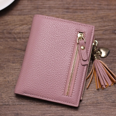 Pink Cute Wallet for Girls Pu Leather fashion Small Purse Student Coin Card Wallet Organizer Clutch Female Mini Money Case cute cats coin purse pu leather money bags pouch for women girls mini cheap coin pocket small card holder case wallets