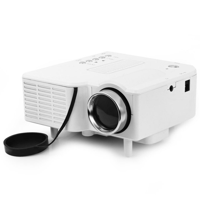 Excelvan UC40 Portable LED Projector Cinema Theater PC&Laptop VGA/USB/SD/AV/HDMI Input White Mini Pocket Projector