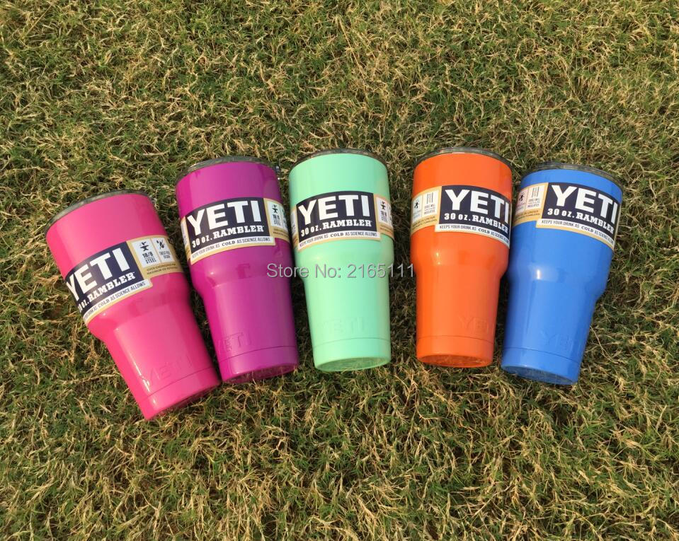 <font><b>Colorful</b></font> <font><b>Yeti</b></font> Cup 30oz <font><b>Rambler</b></font> <font><b>Tumbler</b></font> <font><b>Bilayer</b></font> Stainless Steel Insulation Cups Cars Beer Mug Large Capacity Tumblerful 6 colors