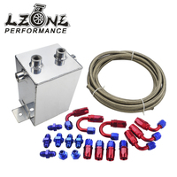 LZONE RACING ALLOY SURGE TANK KIT HOSE FITTINGS 2 Ltr MIRROR POLISHED AN6 JR TK31