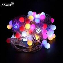 SXZM 10M 60Led Colorful led string light AC110V 220V holiday Outdoor decorative lighting 8 modes EU/US plug Waterproof