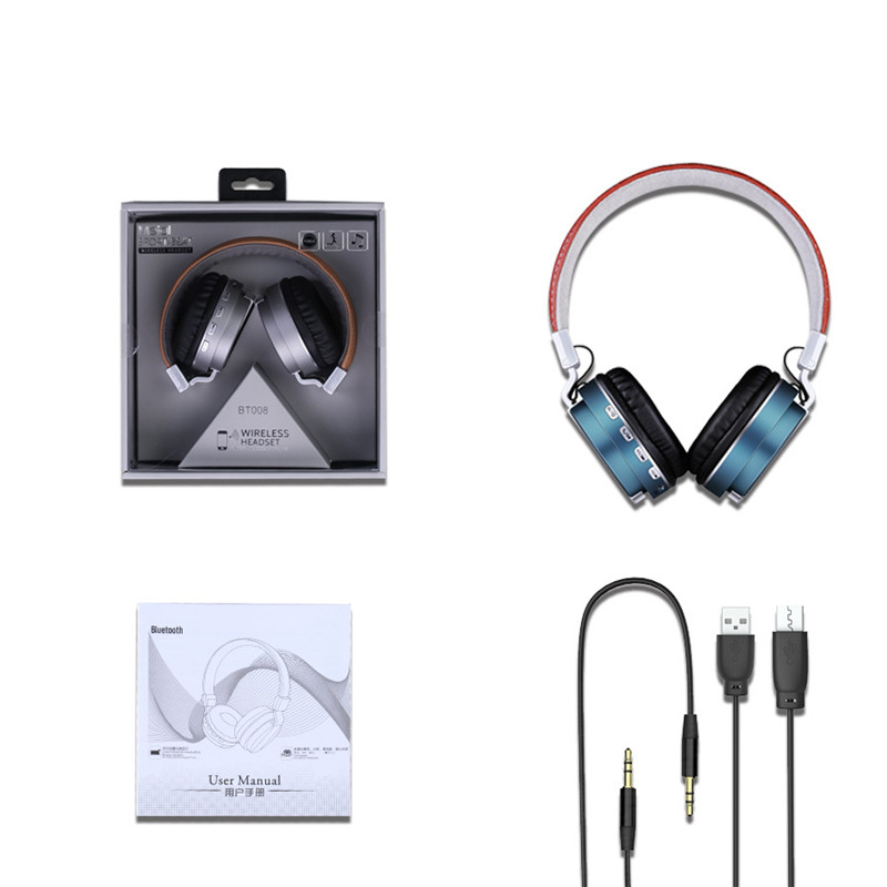 Senbono BT 008 Wireless Bluetooth 4 0 Foldable Headphones Stereo Earphones Headsets Support FM Radio TF