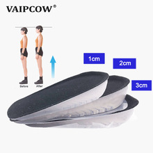 VAIPCOW Height Increase Insole Adjustable 1/2/3CM Air Cushion Invisible Pads Soles Insoles inserts For Shoes Men and Women