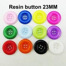 23 мм 40 шт 12 цветов 4 отверстия полимерная одежда круглые кнопки брендовая одежда Кнопка украшение пальто подходит R-283