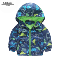 90-120cm Cute Animal Autumn Windbreaker Kids Jacket Boys Cute Dinosaur Baby Outerwear Coats Boys Kids Hooded Children Clothing