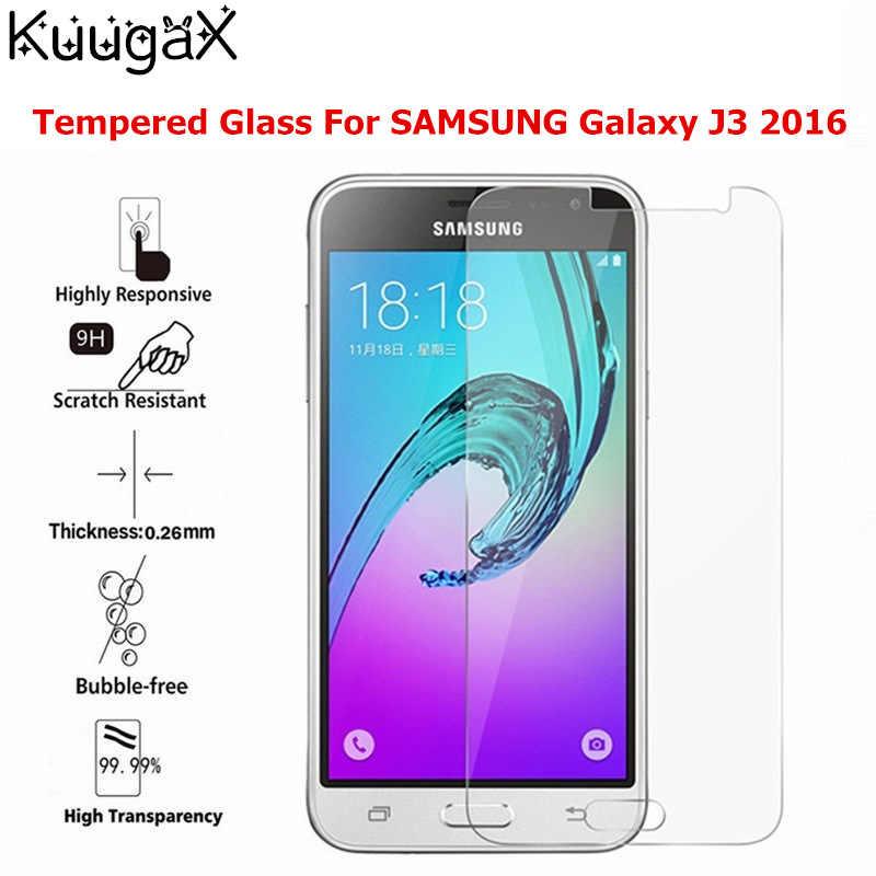 Закаленное стекло для SAMSUNG Galaxy J3 2016, Защитная крышка для экрана 5 дюймов 9H J300 J310 J320, чехлы для смартфонов