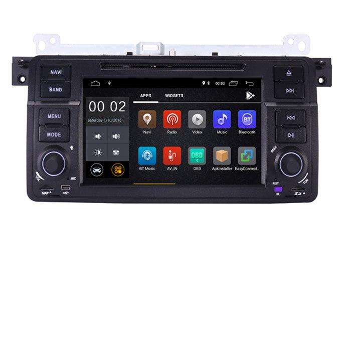 Лидер продаж! Сенсорный экран HD 1 din 7 дюймов Android 8,1 dvd плеер автомобиля для BMW E46 M3 с Wi Fi 3g gps Bluetooth Радио RDS рулевое колесо