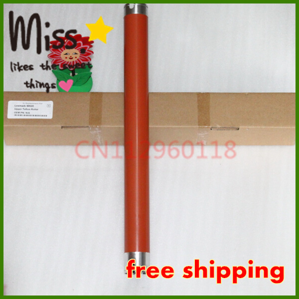 Free Shipping Wholesale Upper Fuser Roller For Lexmark W820  Printer  Sleeved Roller free shipping new original for cp6015 cp6014 6030mfp 6040mfp upper fuser roller fuser roller on sale