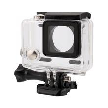 цена на For Gopro Waterproof Case Underwater Diving Shell Box Cover Shockproof Frame Housing Case Cover For Gopro Hero 4/3+/3