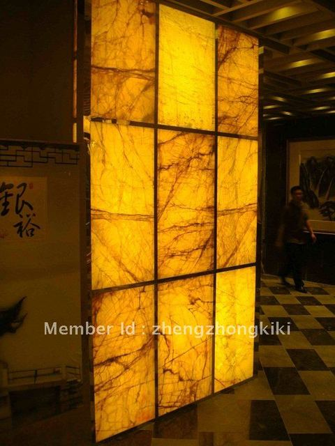 Customed Translucent Marble Yellow Onyx Bar Counter Vanity Tops