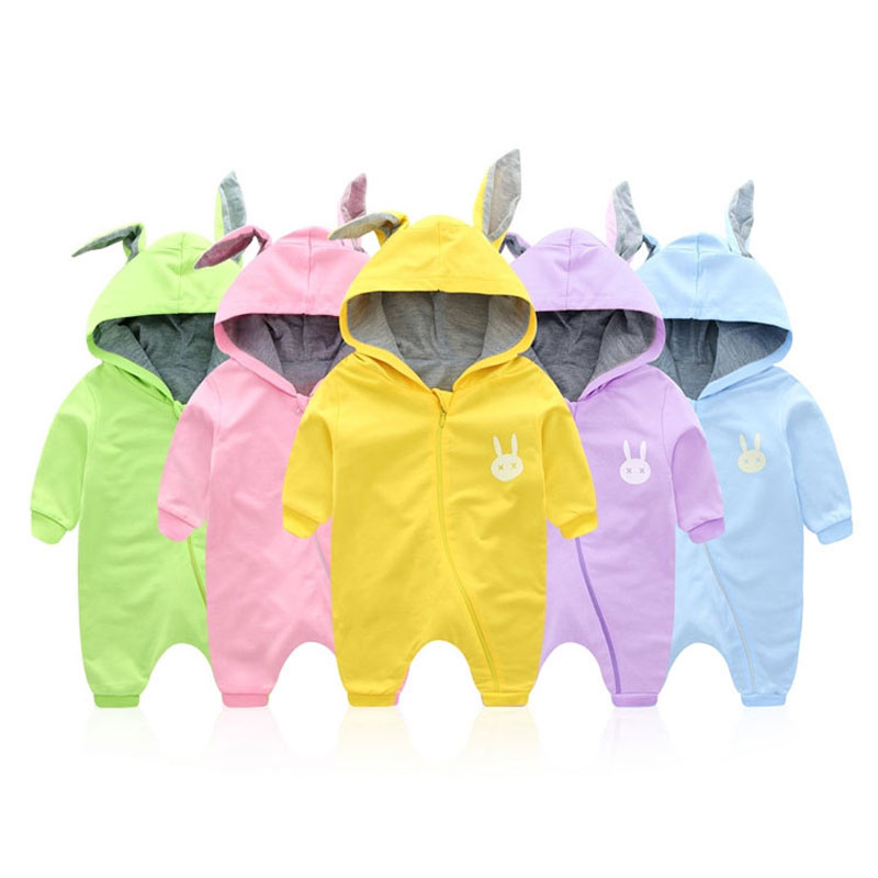 2017 Spring Autumn Baby Romper Cotton Hooded Boy Clothes Infantil Baby Girl Rompers Newborn Boy Jumpsuit Clothing High Quality 100% cotton long sleeve baby rompers 3 pieces lot spring autumn newborn bebe jumpsuit infant boy girl cartoon clothes tops