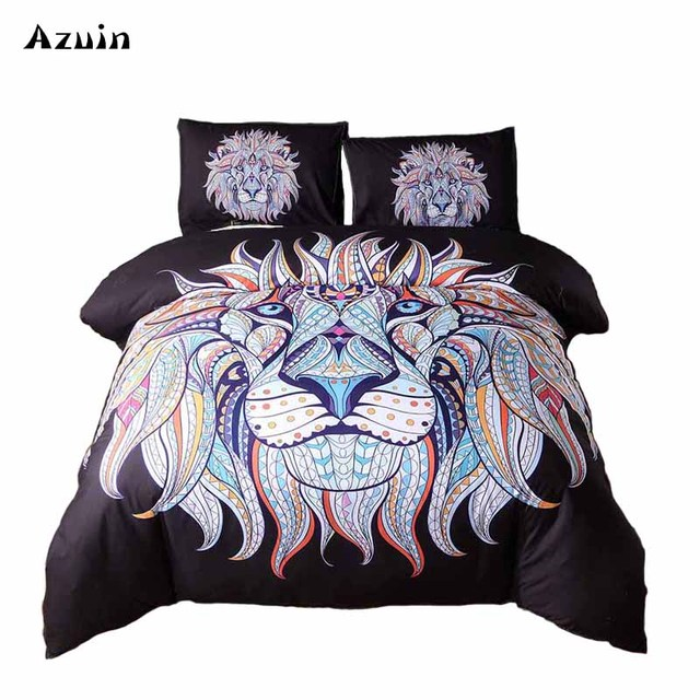 f161c7483d7 3d Animal Bedding Set Mandala White Tiger Duvet Cover Set 3pcs Single Queen King  Size Bed Linen Set Boho Quilts Comforter Sheets. 2 orders