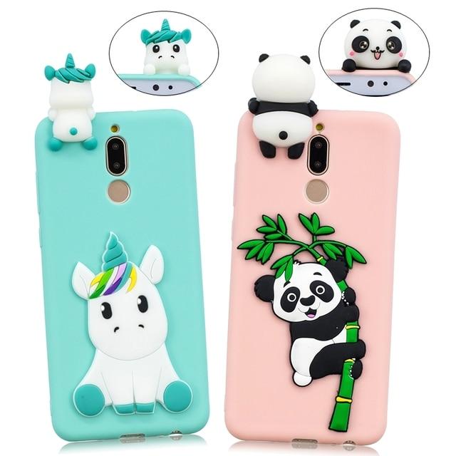 timeless design 8bca7 2e49a US $2.86 30% OFF|Huawei Mate 10 Lite Phone Case on Nova 2i Cover 3D DIY  Unicorn Panda Silicone Case for fundas Huawei Mate 10 P10 Lite Case etui-in  ...