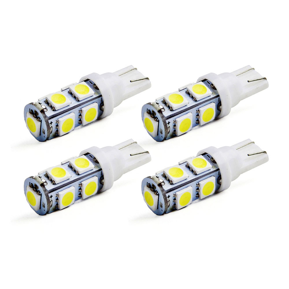 4x T10 LED 9smd 9 SMD 5050 LED W5W 194 927 161 auto Car Side Wedge Light Lamp Bulb ea7 ea7 sf 131321