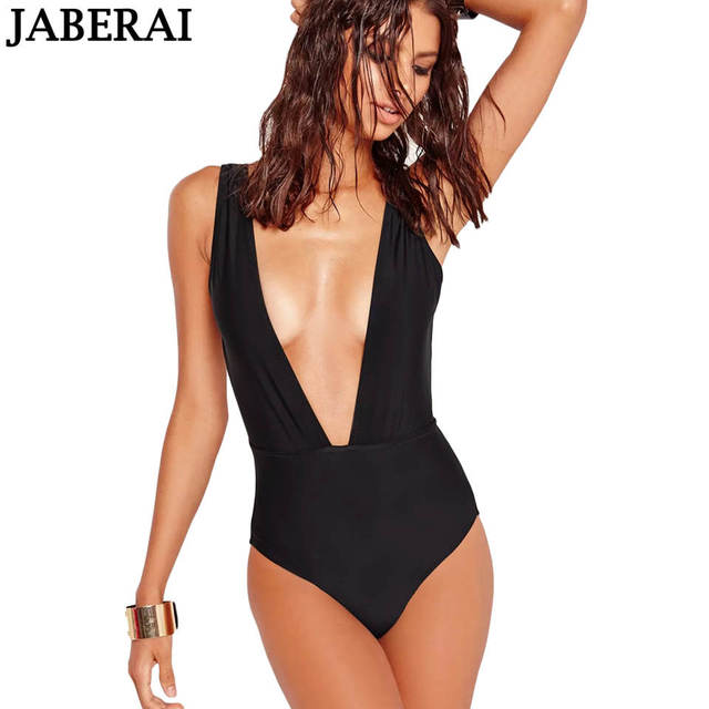 6b99d2a52294f JABERAI Deep Plunge Wide One Piece Swimsuit 2019 Women Backless Monokini  High Cut Thong Brazilian Swimwear Female Bathing Suit