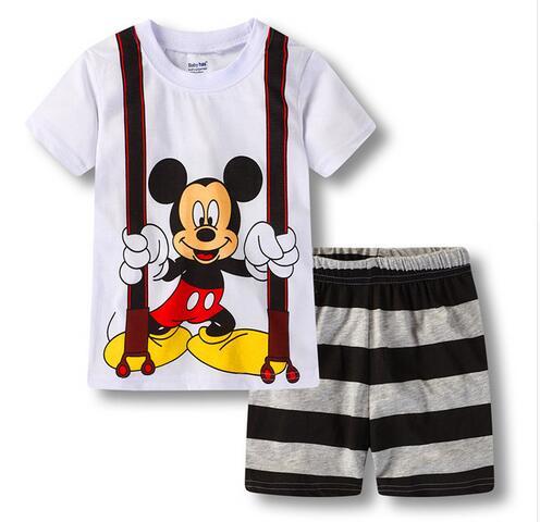 cc969836ab49a Retail Kids Pijamas Baby Sleepwear Nightwear homewear Children's Cartoon  Pajamas for Boys Girls Summer Short Sleeve Pyjamas YW60-in Pajama Sets from  ...