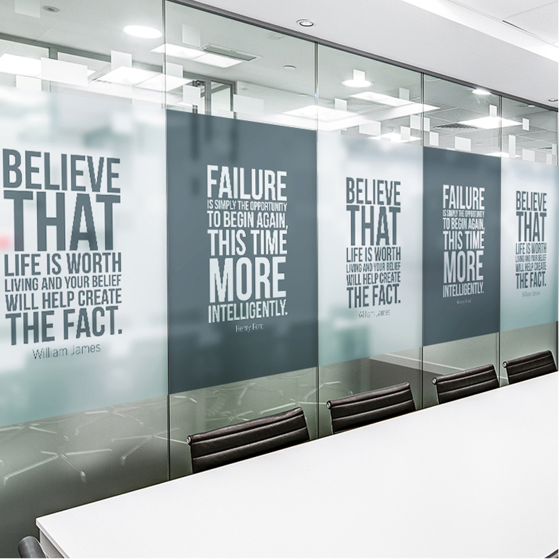 Matte Custom Explosion Proof Electrostatic Stickers Conference Room