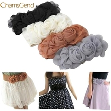 2017 hot sell drop shippingFashion Women s Lady Vintage Elegant Accessories Casual Leisure Flower Lace Elasticated