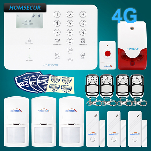 HOMSECUR Wireless 4G LCD SMS Autodial Home House font b Alarm b font System IOS Android