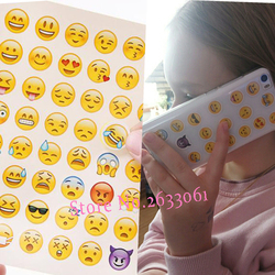 New Cute Head Portrait Sticker Smiling Face Interesting Smile face Stickers Children Kids Toy For Phone Notebook Message Twitter
